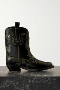 Oscar de la Renta - Embroidered Wool-blend Crepe Midi Dress - Emerald