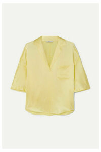 Vince - Silk-satin Shirt - Yellow