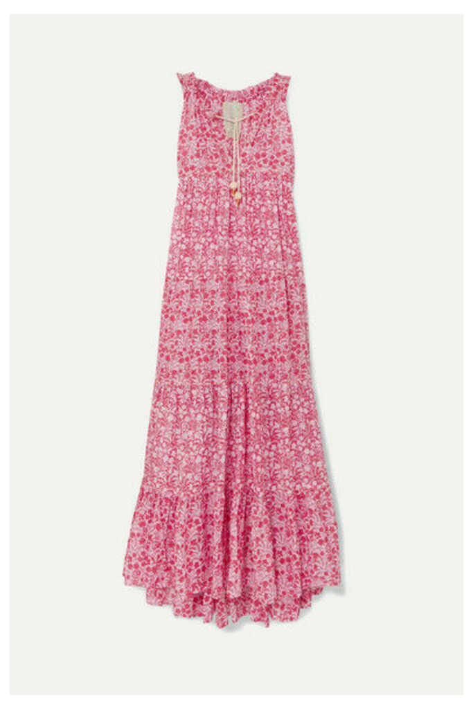 Yvonne S - Hippy Tiered Printed Cotton-voile Maxi Dress - Fuchsia