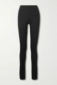 Helmut Lang - Asymmetric Ribbed Wool Dress - Midnight blue