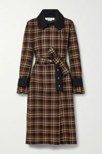 Art Dealer - Rosie Belted Faux Pearl-embellished Floral-print Satin Midi Skirt - Pink