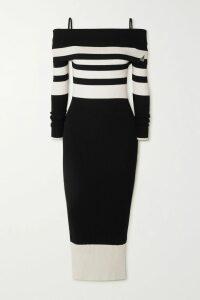 Oscar de la Renta - One-shoulder Draped Ruched Silk-jacquard Top - Saffron