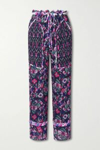 BERNADETTE - Monica Belted Gingham Stretch-jersey Midi Dress - Pink