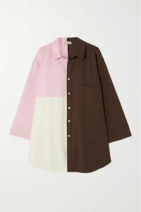 MUNTHE - Donkey Checked Brushed-cotton Dress - Pink