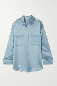 MUNTHE - Destiny Striped Gauze Tunic - Blue