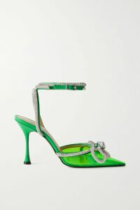 MUNTHE - Drama Asymmetric Floral-print Satin Midi Skirt - Orange