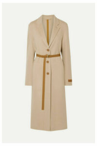 Helmut Lang - Belted Layered Wool And Cashmere-blend Coat - Beige