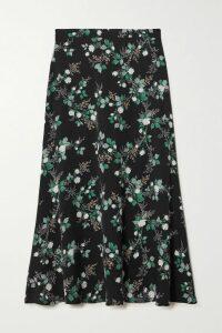 MUNTHE - Daisy Floral-print Satin Maxi Dress - Orange