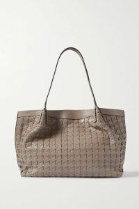 MUNTHE - Dinner Striped Knitted Sweater - Light blue