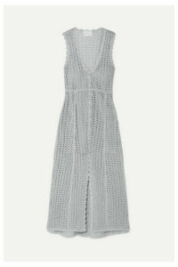 alice McCALL - Magic Metallic Open-knit Midi Dress - Stone