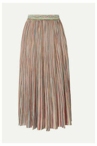 Missoni - Pleated Crochet-knit Midi Skirt - Pink