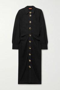 Akris - Grosgrain-trimmed Wool-crepe Midi Dress - Red