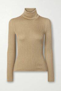 STAUD - Baya Pleated Printed Crepe De Chine And Chiffon Maxi Dress - Peach