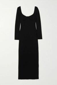 Miu Miu - Cord-trimmed Gingham Cotton-blend Mini Skirt - Black