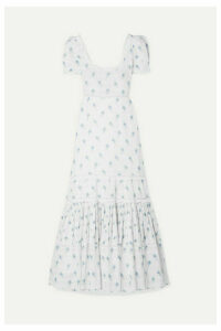LoveShackFancy - Ryan Lace-trimmed Printed Cotton-voile Maxi Dress - White