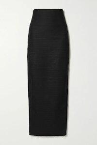 STAUD - Elio Off-the-shoulder Cotton-blend Midi Dress - Orange