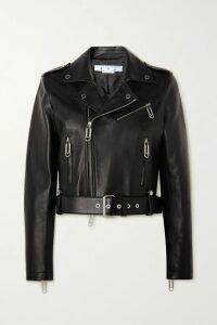 STAUD - Chiquita Pleated Two-tone Crepe De Chine Mini Dress - Blue
