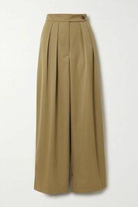 Ulla Johnson - Paola Ruffled Printed Cotton-blend Midi Dress - Beige