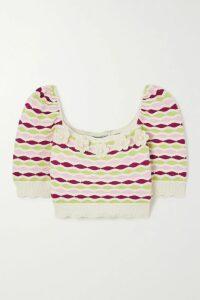 Ulla Johnson - Lottie Pleated Floral-print Cotton-blend Voile Midi Dress - Blue