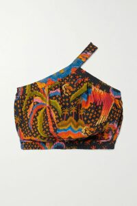 Alice + Olivia - Cobi Wrap-effect Crepe Midi Dress - Yellow