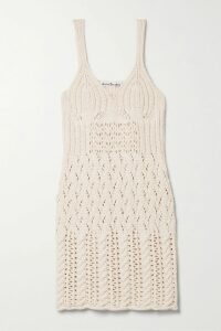 Three Graces London - Ida Off-the-shoulder Tiered Metallic Striped Linen-blend Dress - Beige