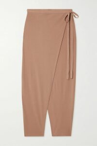 Ulla Johnson - Constantine Smocked Ruffled Printed Cotton-blend Midi Dress - Brown