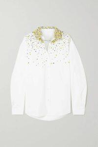 Michael Kors Collection - Ruffled Floral-print Silk Crepe De Chine Dress - Black