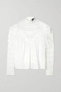 Theory - Belted Silk Crepe De Chine Dress - Beige