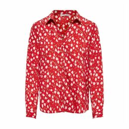 Floral Print Long-Sleeved Blouse