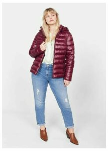 Side-zip quilted coat