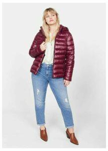 Side-zip quilted coat