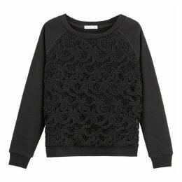 GuipureLaced Sweatshirt