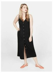Ribbed buttonned dress