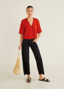 Wrap v-neckline blouse