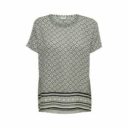 Jackie Round-Neck Blouse with Short Sleeves
