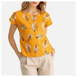 Floral Print Broderie Anglaise Blouse
