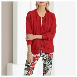 Chunky Knit Zip-Up Cardigan