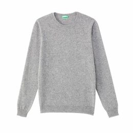 Pure Wool Fine Knit Crew Neck Jumper