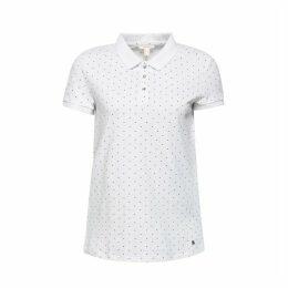 Polka Dot Print Short-Sleeved Polo Shirt