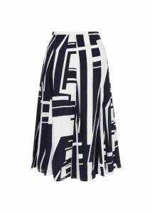Tahlia Skirt Navy Ivory