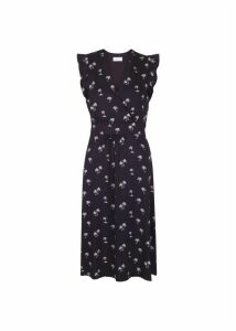 Penelope Dress Navy White