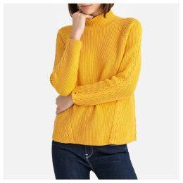 Organic Cotton High Neck Fine Knit Jumper