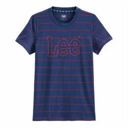 Striped Teel Crew Neck T-Shirt