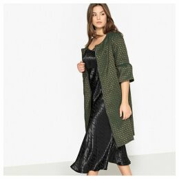 Jacquard Coat with Flared Sleeves