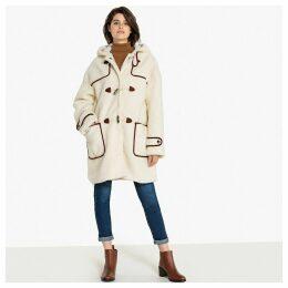 Teddy Faux Fur Hooded Duffle Coat