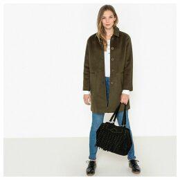 Mid-Length Coat with Pockets