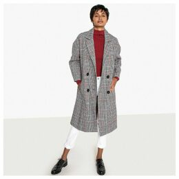 Double-Breasted Checked Coat