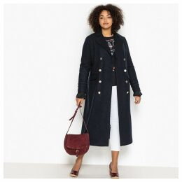 Double-Breasted Military Wool Mix Coat