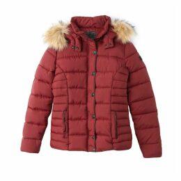 Short Mid-Season Hooded Padded Jacket