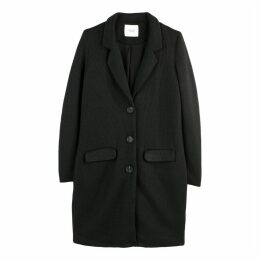 Long Single-Breasted Coat with Pockets